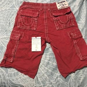 True Religion Cargo Shorts (Red)